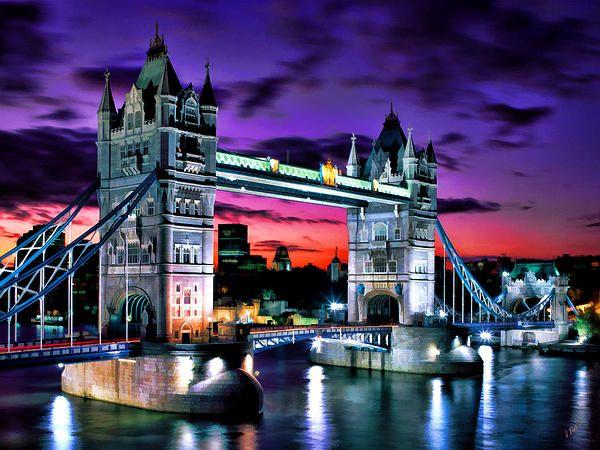 London Evening At Tower Bridge