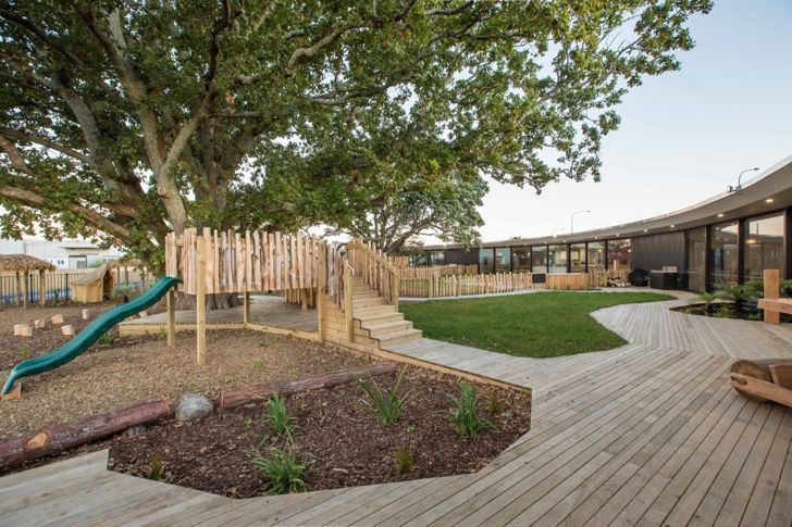 Chrysalis Childcare Centre uses existing trees as symbolic centerpieces   Chrysalis Childcare Centre