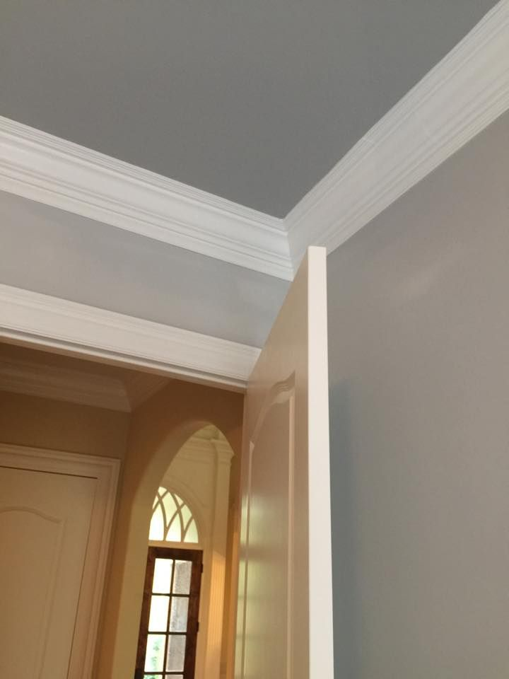 Walls sw passive gray trim sw pure white ceiling sw for Ceiling paint color