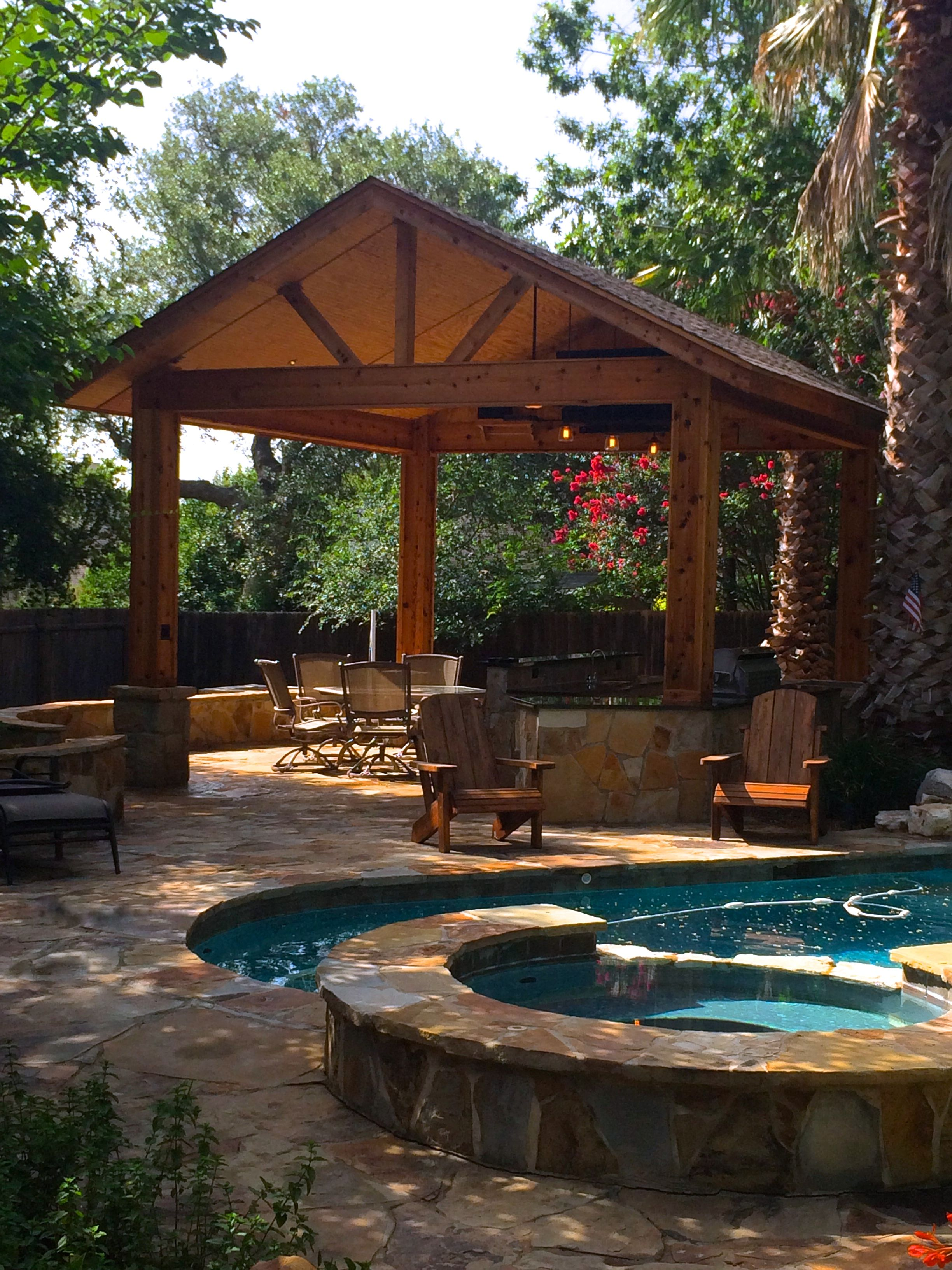 San Antonio Patio And Custom Pool Cabana With Outdoor Kitchen Arquitectura