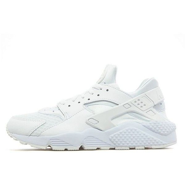 new concept c9a3b 624f7 Nike Air Huarache  Platinum White  ( 120) ❤ liked on Polyvore featuring  men s fashion, men s shoes, men s sneakers, mens white sneakers, mens woven  shoes, ...