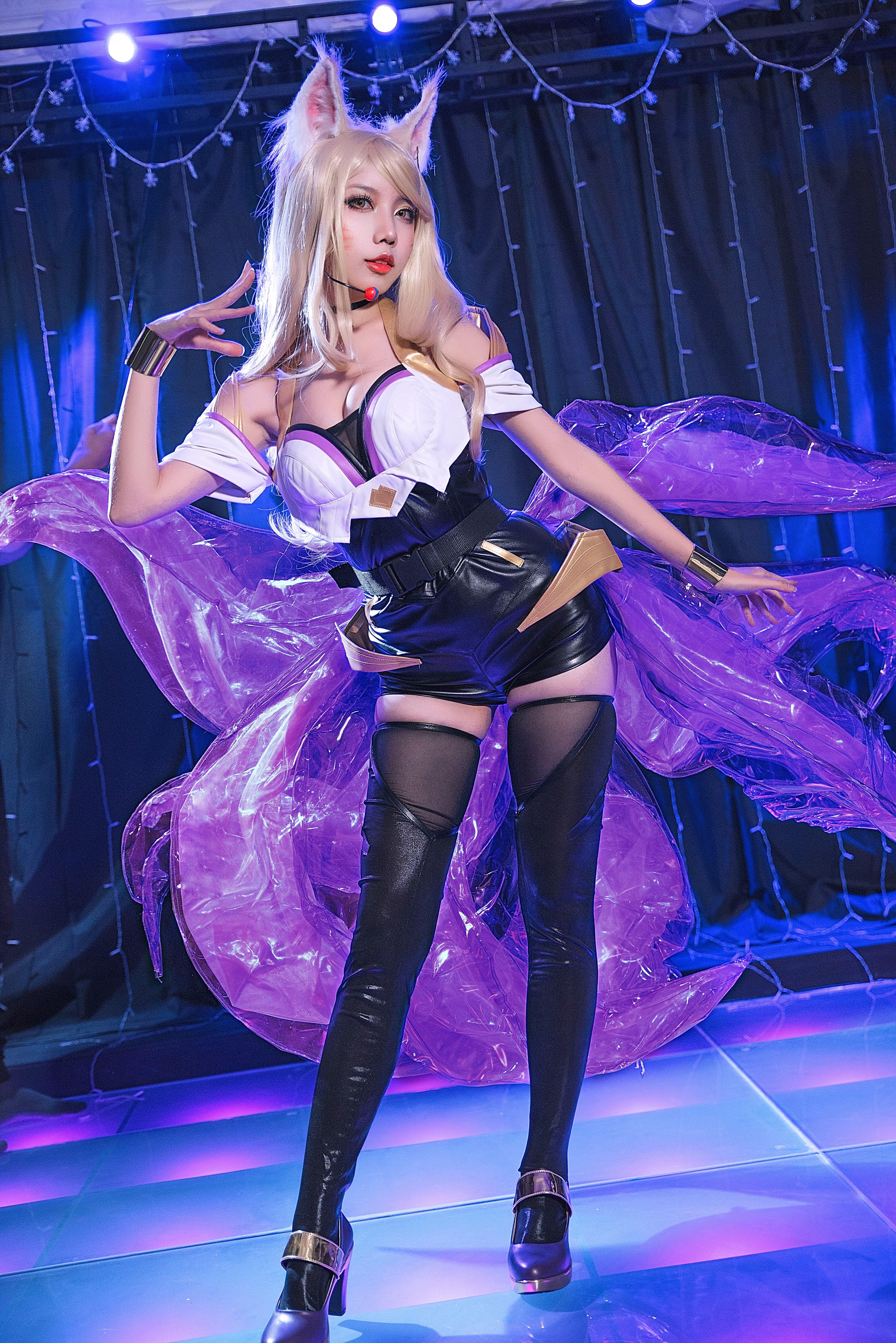Photo of League of Legends LOL K/DA Ahri Cosplay Costume