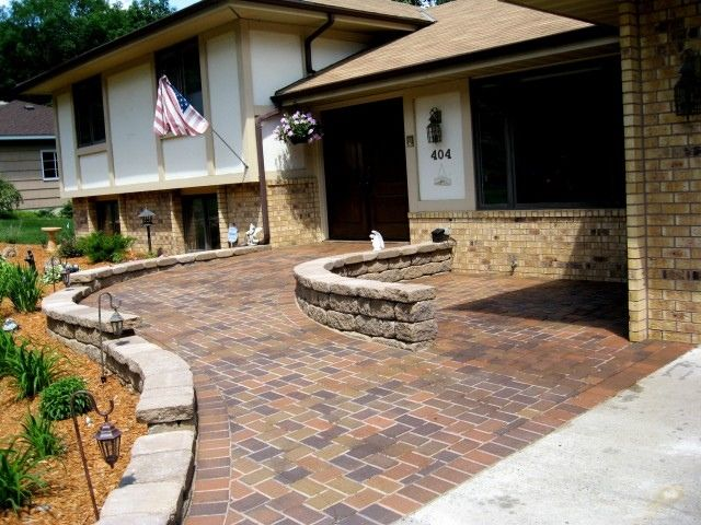 front porch ramps | ... front-entry-contemporary | Home ...