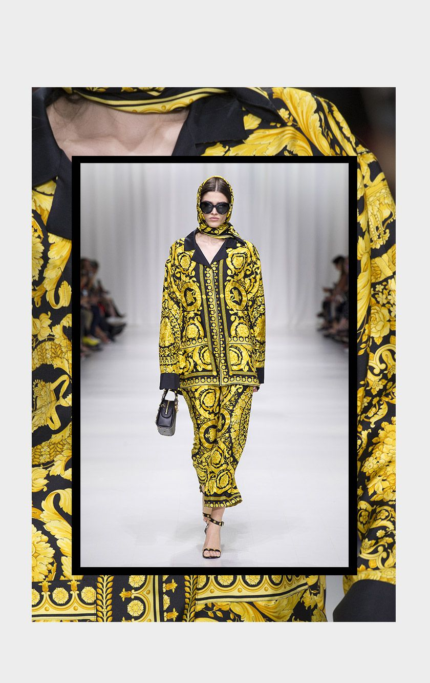871298d01c3 THE  Versace Barocco print. First designed by Gianni Versace for the Fall  Winter 1991 collection
