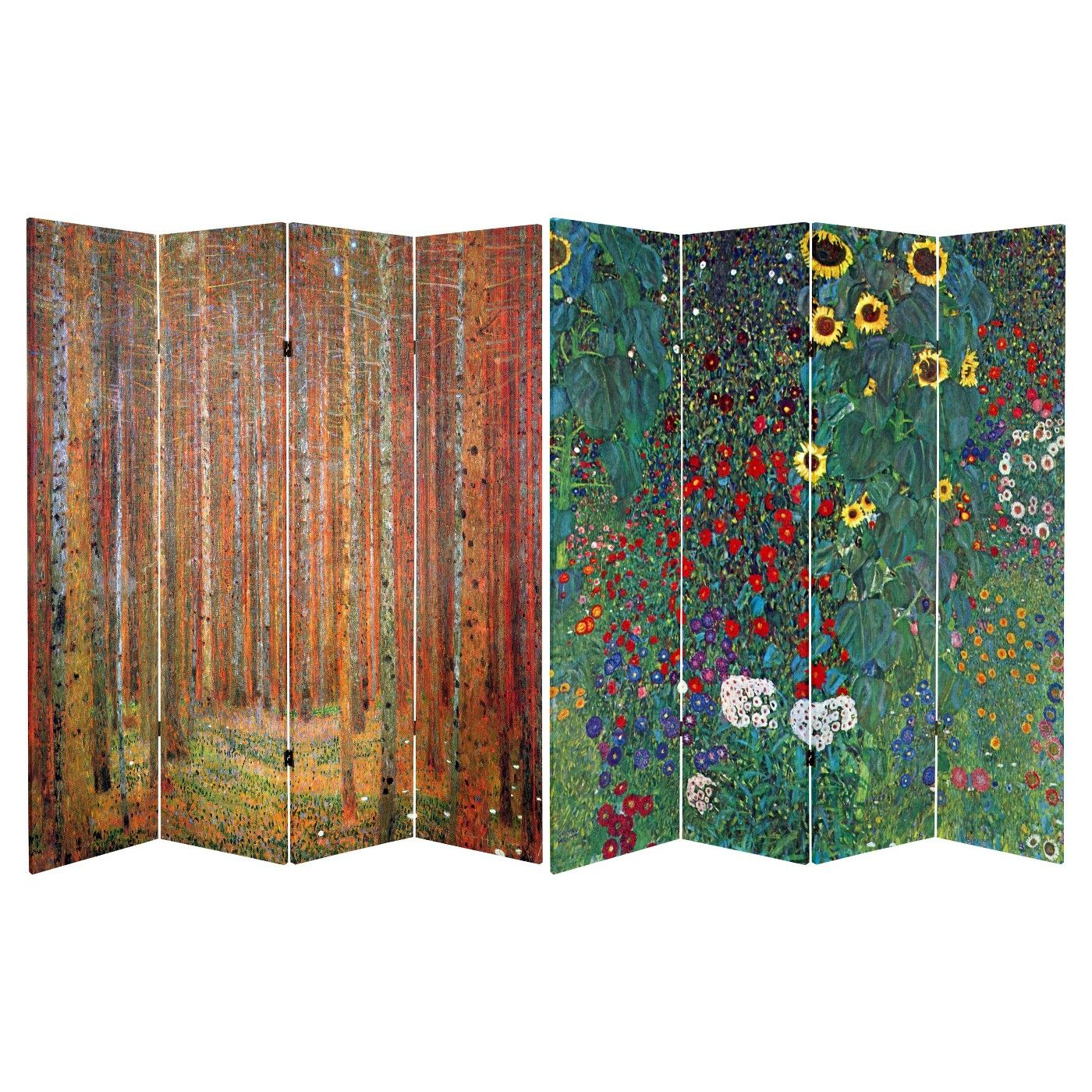 Klimt Fine Art Double Sided Room Divider Tannenwald And Farm