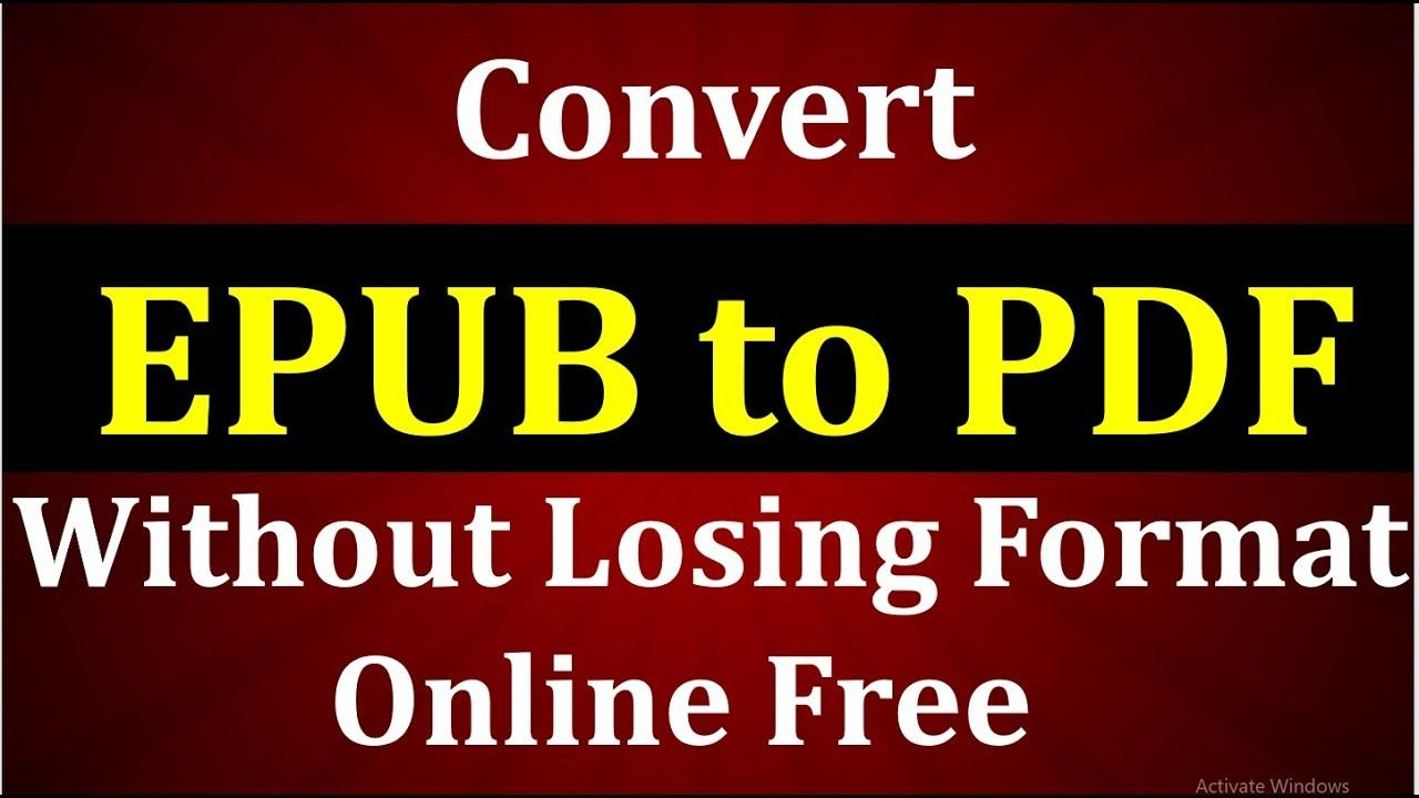 How to Convert EPUB to PDF free Online? Learn in this video