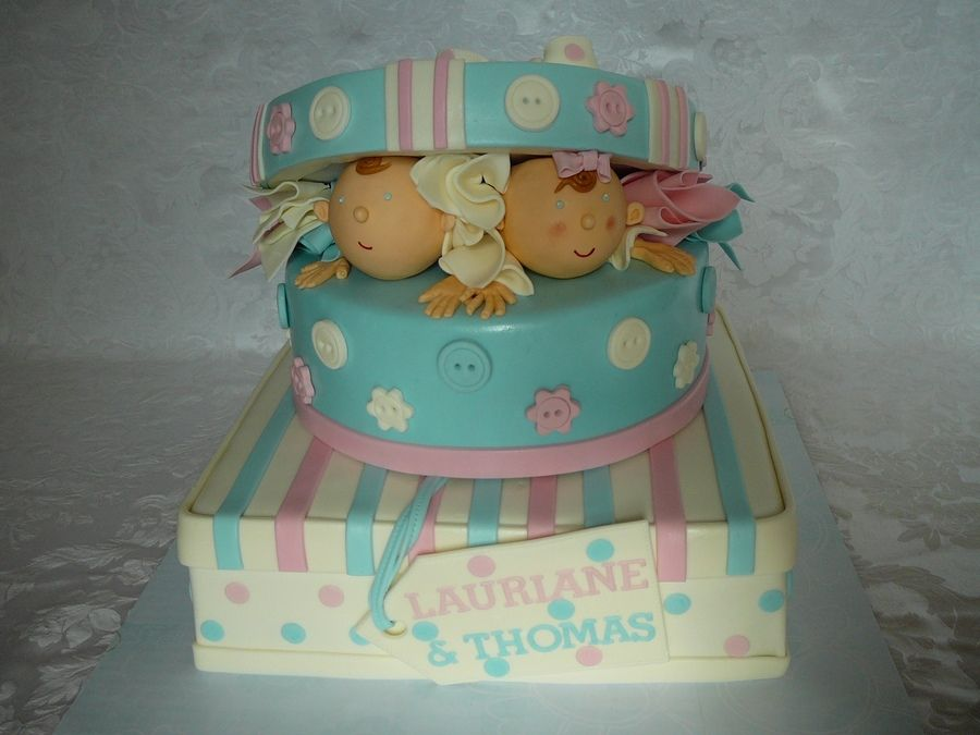 baby shower cakes for brother and sister twins  baby shower cakes, Baby shower invitation