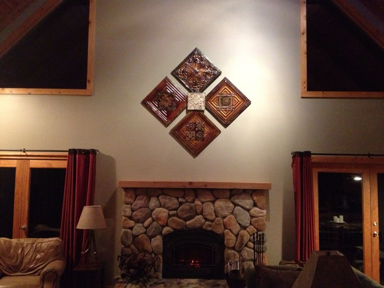 Client Photo From Asheville Nc Custome Made Antique Tin Ceiling