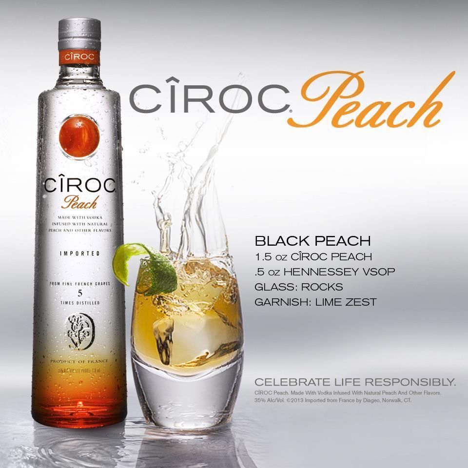 Black Peach Ciroc Drinks Mixed Drinks Recipes Peach Drinks