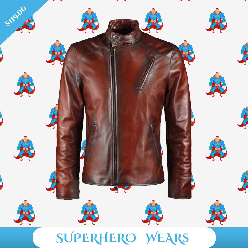 Mens Superhero Leather Jackets Mready Jackets Leather Jacket Genuine Leather Jackets Leather