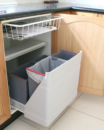 Multi Bin System To Sort Recyclables I Really Like The