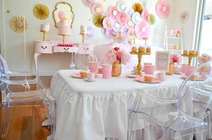 princess tea party with lots of cute ideas via kara's party ideas, Baby shower invitation
