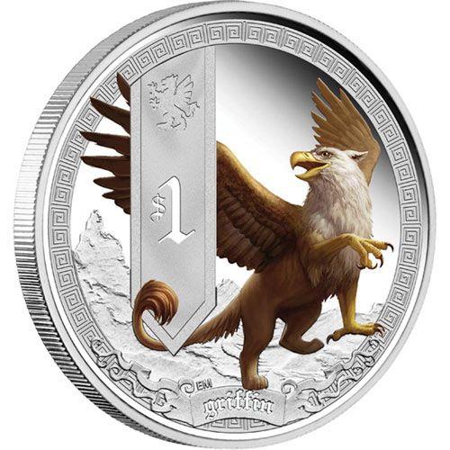Tuvalu 2013 Werewolf Legend Dollar 1oz Silver Coin,Proof