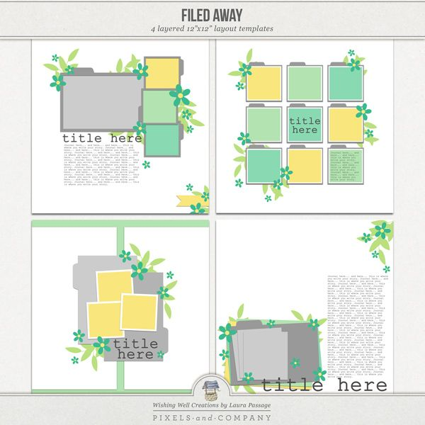 """Creations By Laura: Templates By """"Wishing Well Creations By Laura"""
