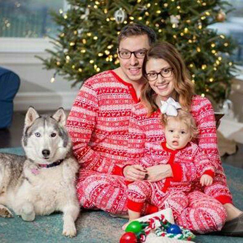 Xmas PJs Family Matching Christmas Pajamas Set Men Women Kid