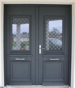 double porte dentre en aluminium ralisation de la menuiserie solabaie craon - Porte D Entree Double