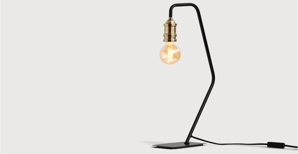 Starkey Table Lamp Black And Brass Lamp Industrial Table Lamp Black Table Lamps