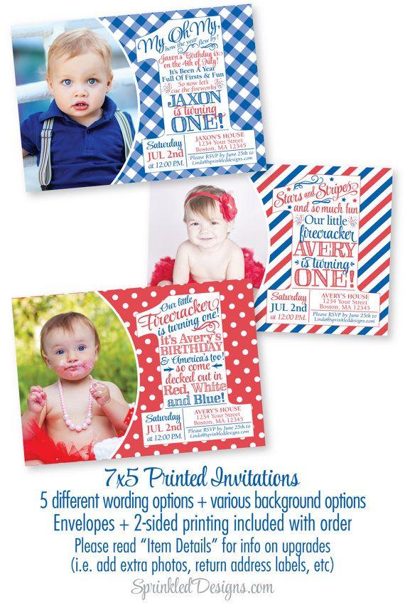 4th of july birthday invitations