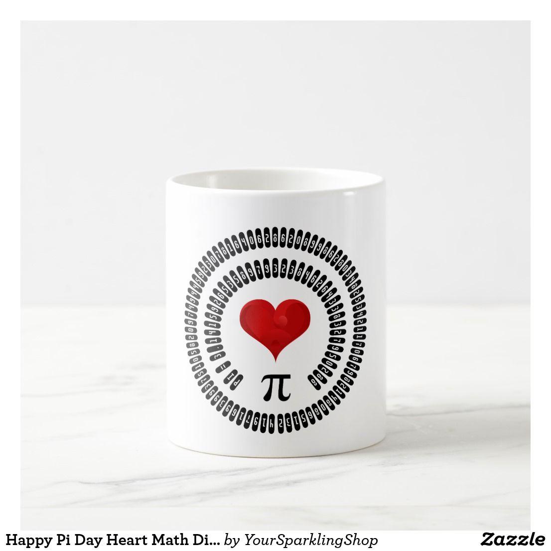 Happy Pi Day Heart Math Digits 3 14 Mathematics Coffee Mug