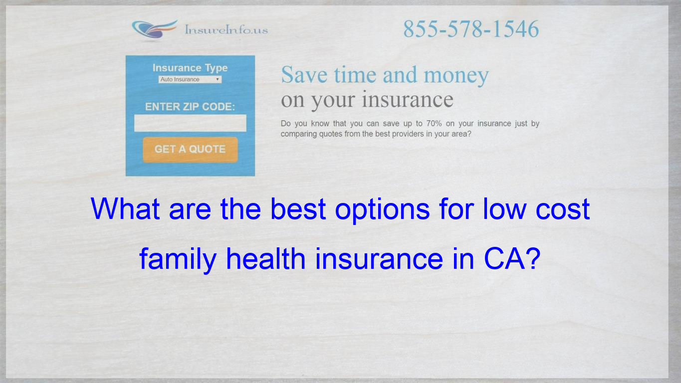Hi I Live In Ca And Had Health Insurance Through Cobra After I
