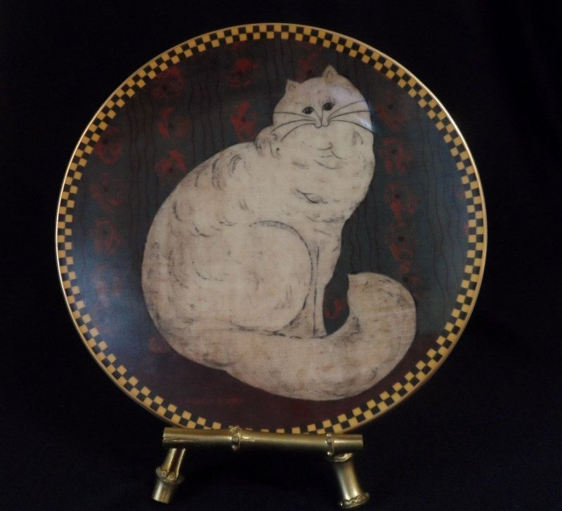 art print~WHITE PERSIAN CAT~Warren Kimble~cats kittens~folk primitive 8x10
