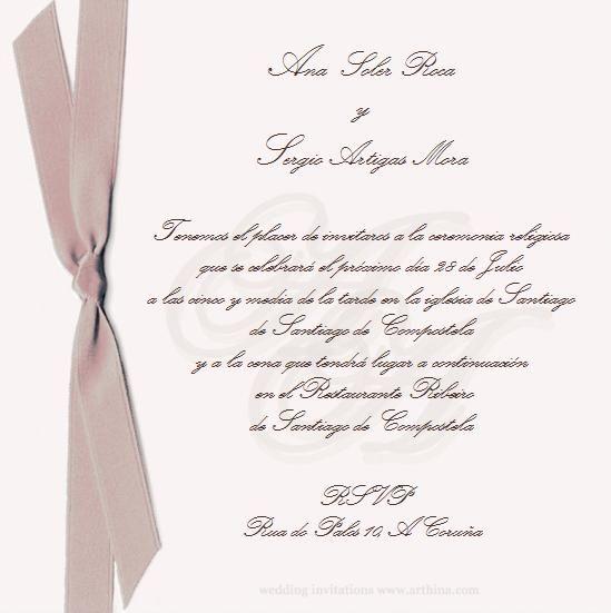 Dise o de tarjeta de invitaci n de boda marfil de color - Disenos tarjetas de boda ...