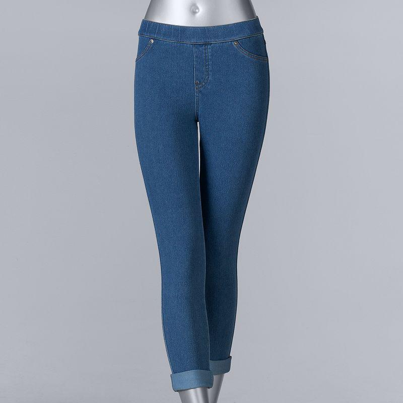 6461574ef8850 Vera Wang Women's Simply Vera Cuffed Denim Capri Leggings | Products ...