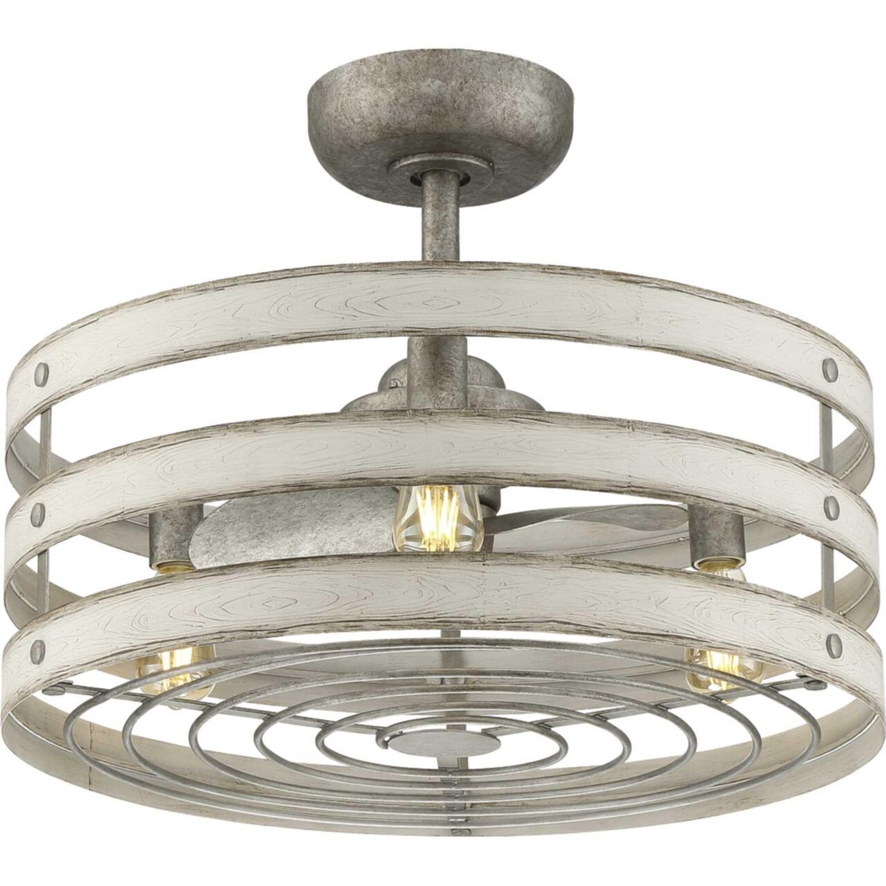 Shown in Galvanized Finish finish Ceiling fan with light