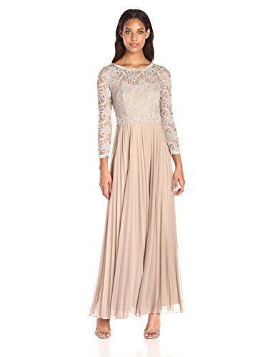 Decode 1.8 Women's Glitter Lace #Long #Sleeve Embellished Gown with Pleated #Skirt  Full review at: http://toptenmusthave.com/best-formal-dresses/