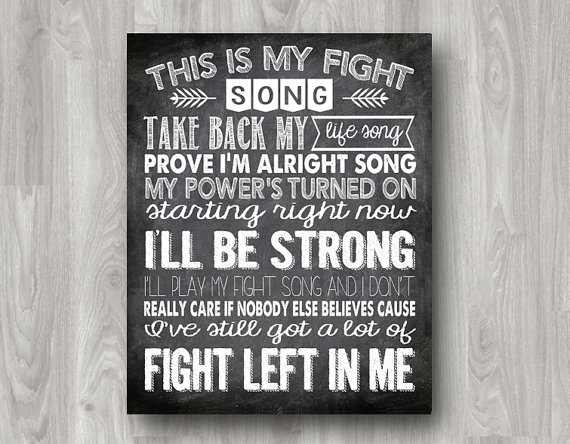 photo about Fight Song Lyrics Printable identified as This is My Combat Music Consider Back again My Lifestyle Track - Motivational