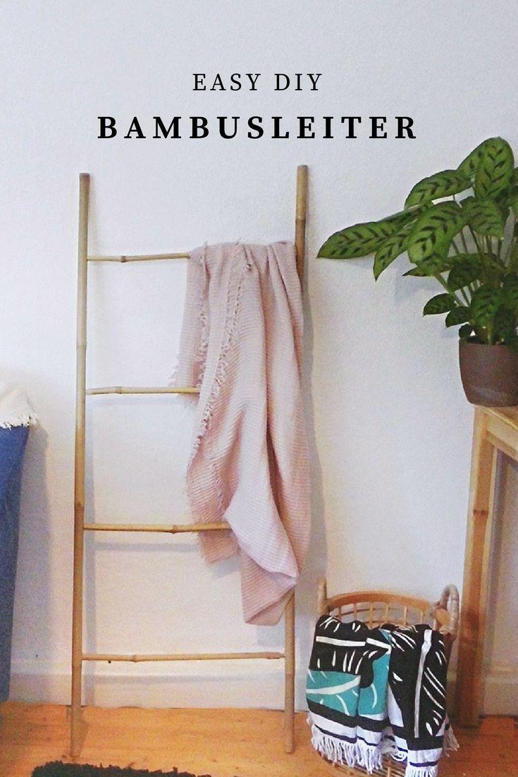 Diy Bambusleiter Selbstgemachte Inneneinrichtung Bambus Und