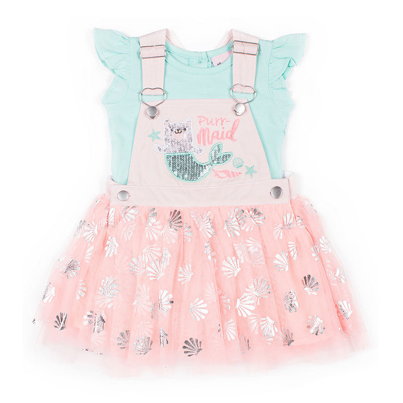 b85520a899 Little Lass 2-pc. Shortall Set Baby Girls | Products in 2019 | 2 ...