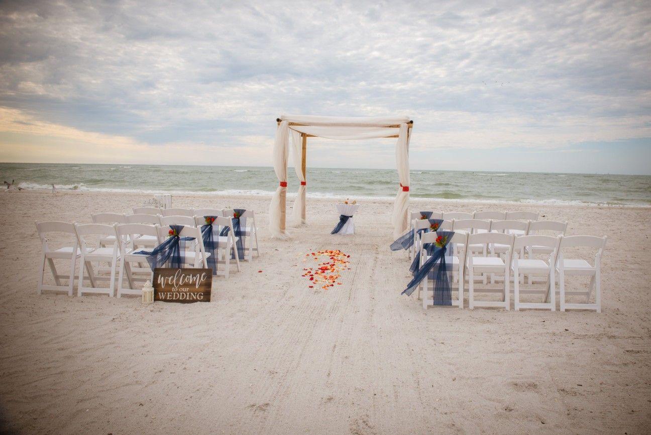 Navy And Orange Beach Ceremony In 2020 Beach Wedding Planner Beach Ceremony Destin Florida Wedding