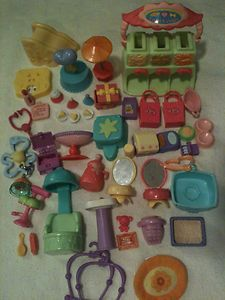 Littlest Pet Shop Clothes LPS Accessories (6 Piece lot Turquoise / Pink)  | eBay