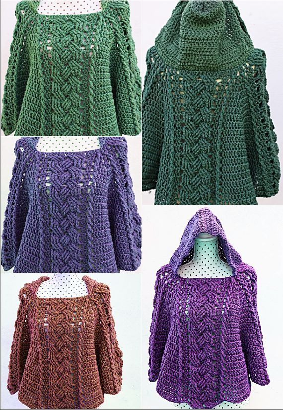 Fast And Easy Poncho Crochet Pinterest Crochet Crochet
