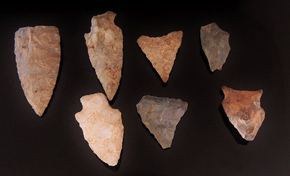 ONEIDA Indians 18th Century ARROWHEADS Barneveld New York -  American INDIAN Artifacts - $75