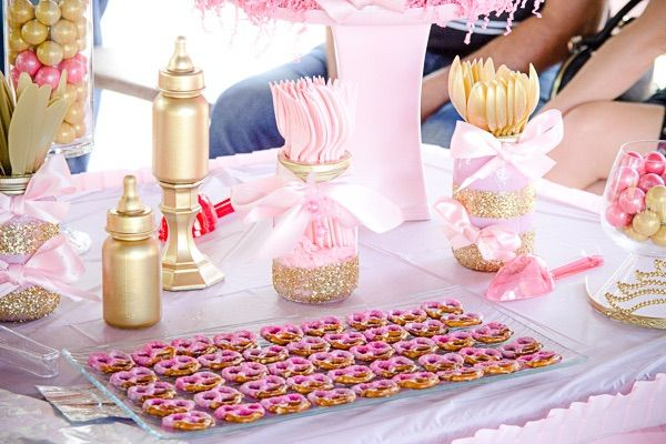 Princess Baby Shower Candy Table Princess Baby Shower Ideas Cake Center Piece Pink Pink Baby Shower Candy Baby Shower Candy Table Pink Baby Shower Cake