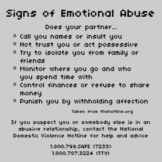Mental abuse signs in a marriage