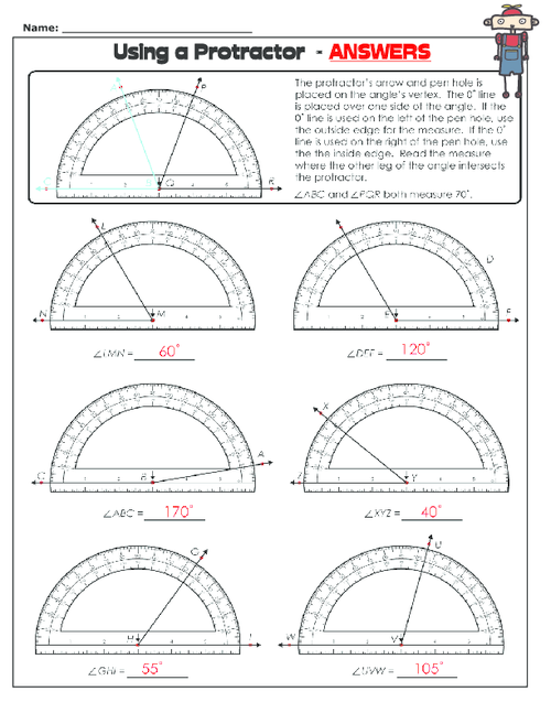 Using a Protractor 2 Math instruction