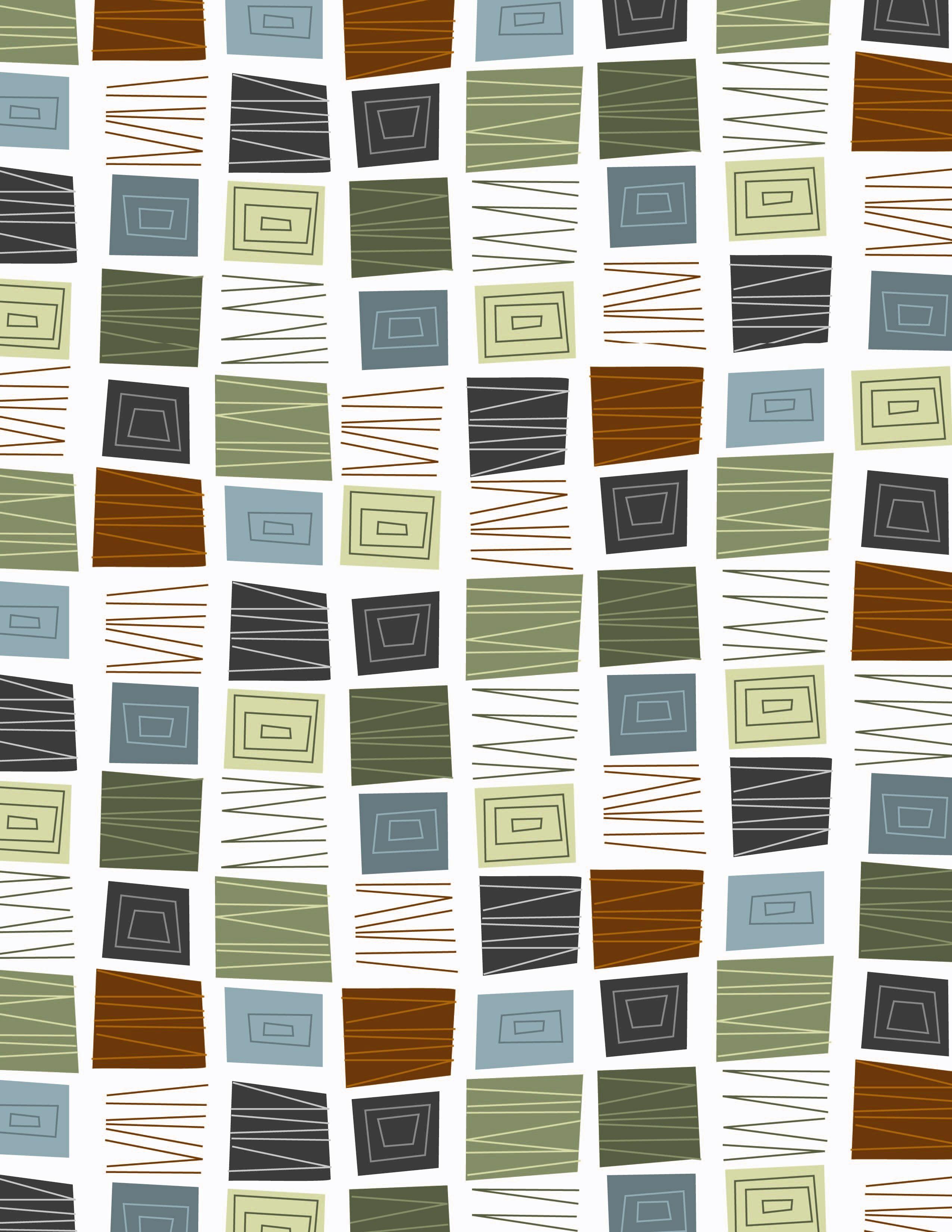 mid century pattern | pattern | Mid century modern wallpaper