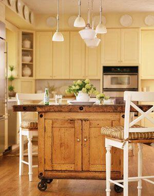Kitchen Floating Island Bench W Wheels Diy Kitchen Island Kitchen Island Design Kitchen Island On Casters