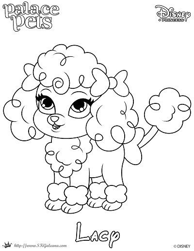 Free Coloring Page Featuring Lacy From Disneys Princess Palace Pets