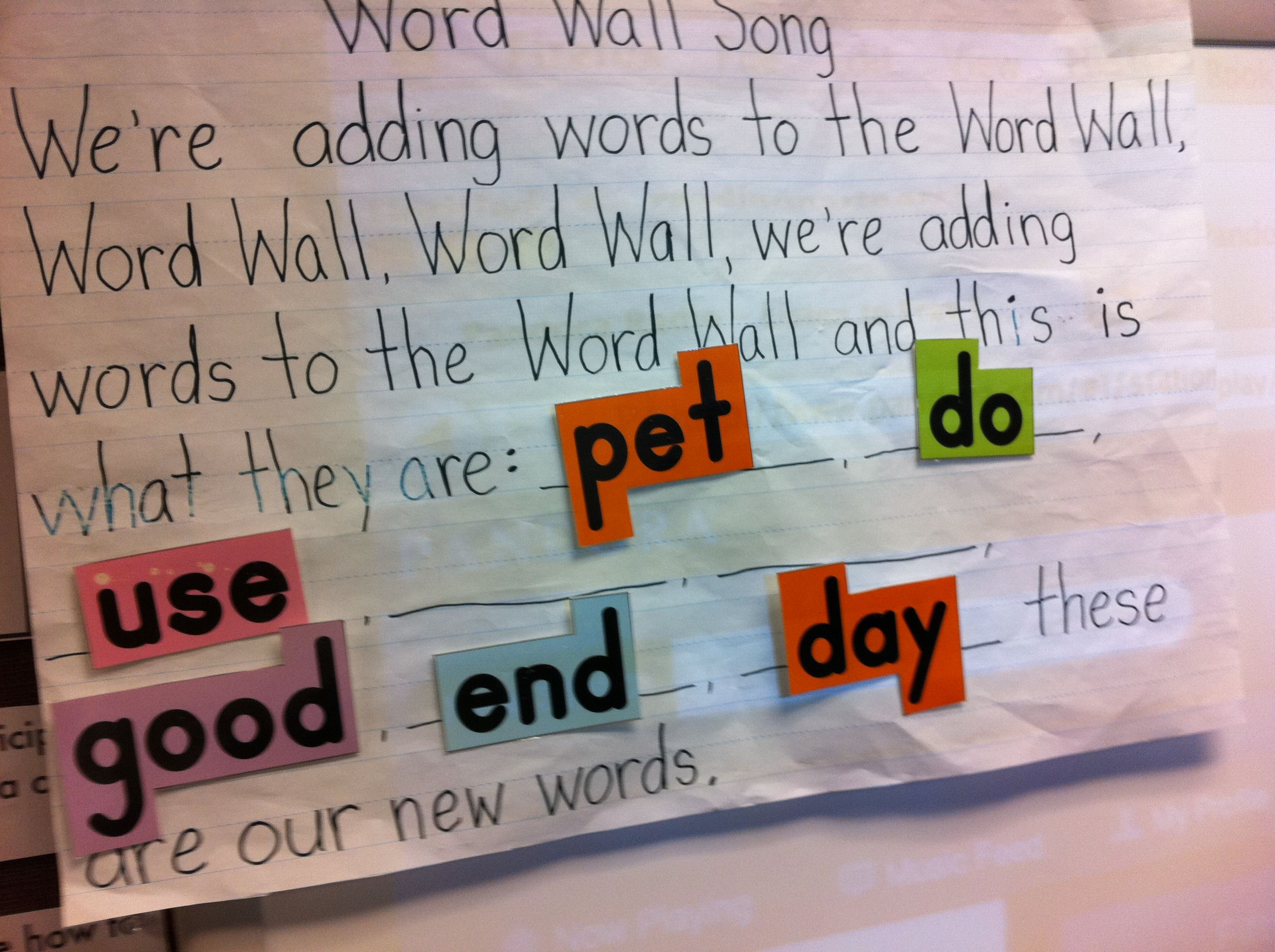 Word Wall Song