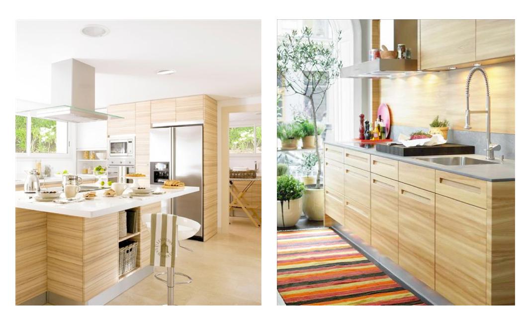 Tiradores Viefe para cocinas de madera clara. Handles for natural ...