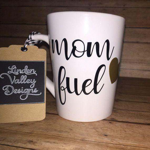 Mom Fuel Coffee Mug-Heart Mug-Funny Sayings Coffee Mug ...