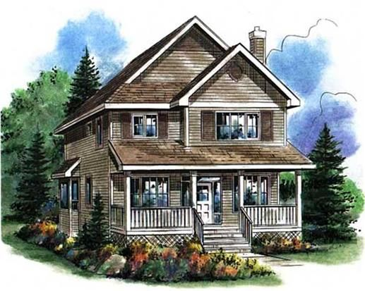 Main Image For House Plan 2292 Cottage Style House Plans Country Style House Plans Old Country Houses