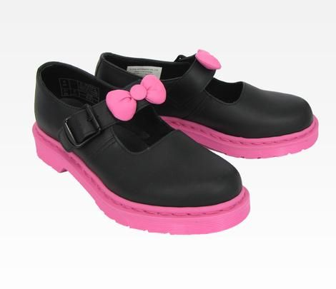 Squee! Must have! Hello Kitty Dr. Martens Mary Jane: Black