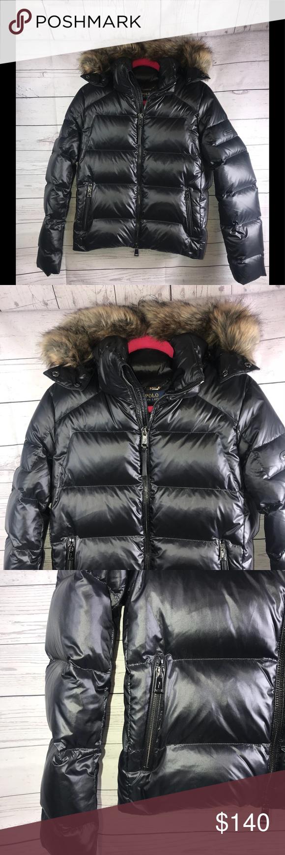Ralph Lauren Polo Womens Puffer Coat 345 New Med Nwt Women S Puffer Coats Puffer Coat Black Puffer