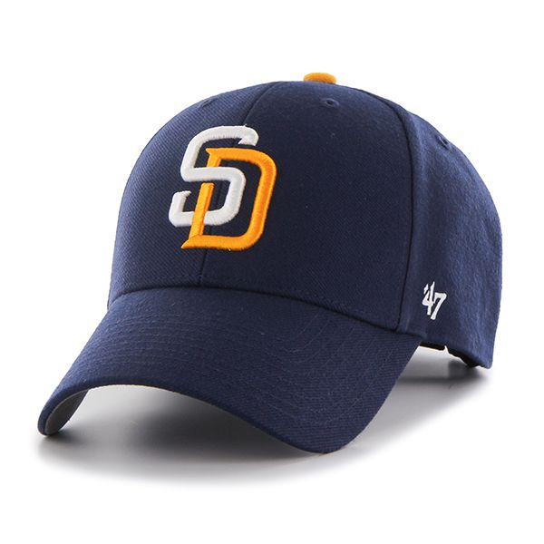 7493382f08b0b San Diego Padres Sparkle Team Color Clean Up Navy 47 Brand Womens Hat