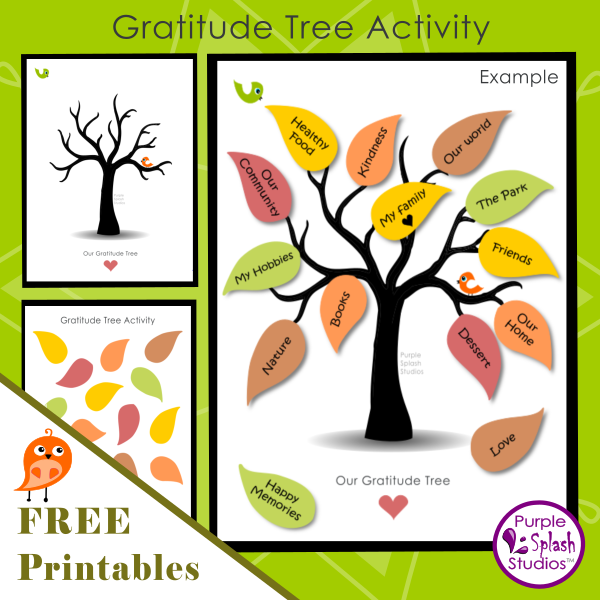 picture about Thankful Tree Printable titled Absolutely free Printable for Family members or Children: Graude Tree Game